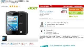 Smartphone Acer Liquid Z2 Duo au plus bas prix