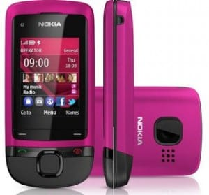 Vente flash Orange Nokia C2-05 Rose