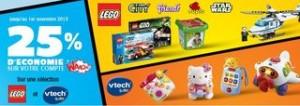 Lego et Vtech Baby 25% de la valeur créditée sur votre compte Waooh
