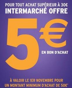 Bon d'achat 5 euros Intermarché