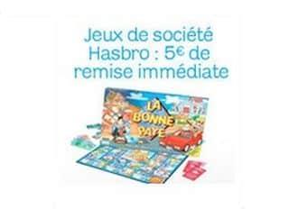 5 euros de remise immédiates sur les jeux de société Hasbro