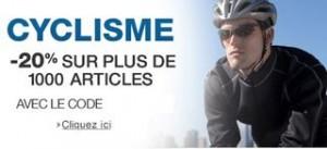 20% réductions immédiates sur plus de 2500 articles de Cyclisme