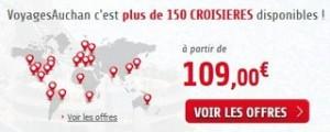 Pendant 7 jours 5% sur toutes les croisières Auchan Voyages (code promo)