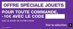 code promo jouet Pixmania 10 euros