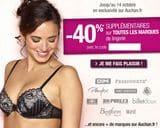code promo lingerie Auchan