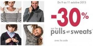 30% sur tous les Pulls chez Gémo pendant 3 jours