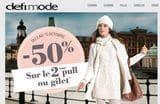Offre Votre 2ème pull ou gilet à -50% chez Defi Mode