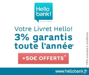 hello bank 50 euros 3 pourcent