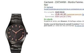 montre Cacharel à moins de 45 euros