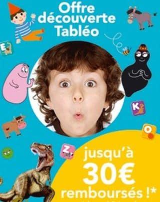 offre de remboursement tablette educatif i-Tableo Nathan