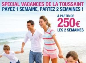 250 euros le séjour 2 semaines Carrefour Voyages