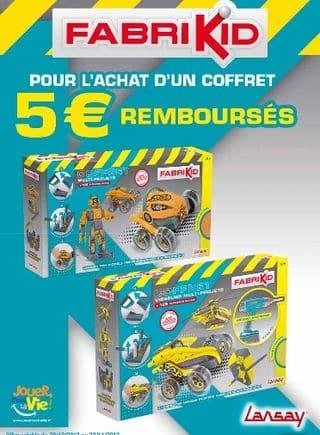 5 euros remboursés sur l'achat d'un coffret Fabrikid (moins de 25 euros après ODR )
