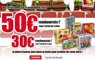 Offre remboursement Asmodée Noel 2013 ! Jusqu'à 50 euros remboursés
