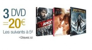 offre speciale DVD 3 pour 20 euros