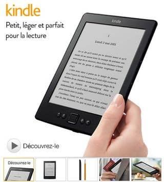 Liseuse Amazon Kindle 6 pouces à 59 euros port inclus