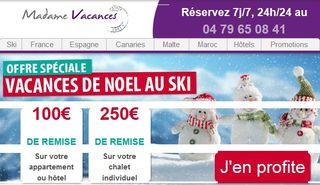 Bon plan vacances ski Noel et Jour de l'an