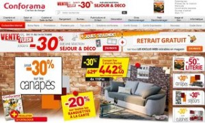 vente flash conforama retrait gratuit