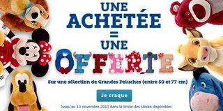 1 peluche 45cm disney achet e 1 gratuite - Peluches a 1 euro ...