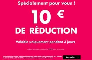 10 euros pour 30 euros Adam et Eve
