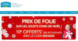 10 euros pour 50 euros achats RUE DU COMMERCE