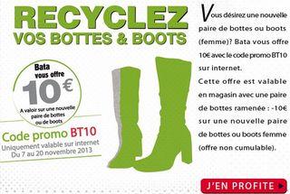 10 euros reductions Bata