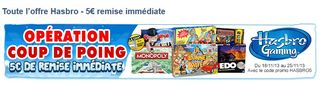 5 euros jeux Hasbro Cdiscount