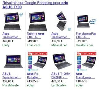 ASUS Transformer Book T100 moins cher