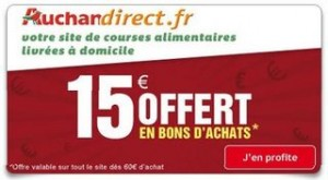 Auchan Direct code promo 15 euros