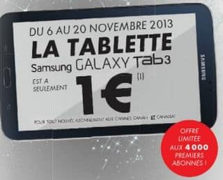 CANAL PLUS TABLETTE SAMSUNG 1 EURO