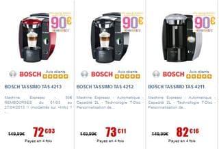 Cafetiere Tassimo Bosch gratuite ODR