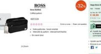 nouveau produit f5722 f2b9d Coffret eau de toilette Hugo Boss 50 ml + trousse de ...