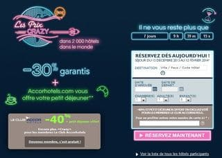 Crazy Prices Accor Hotel Novembre 2013