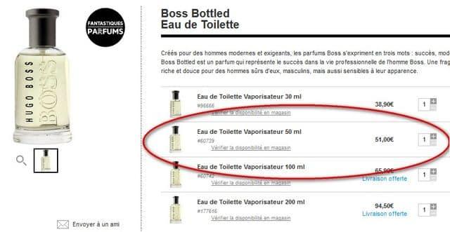 Hugo Boss Bottled sephora