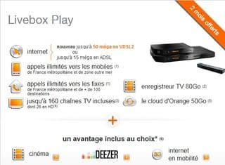 Livebox Play Orange bon plan