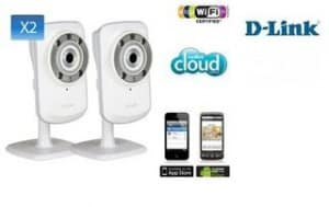 Moins de 70 euros les 2 Caméras IP WiFi D-Link