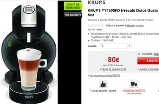 Nescafe Dolce Gusto KRUPS 40 euros