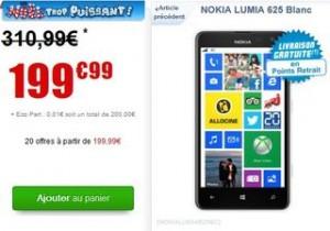 Nokia Lumia 625 blanc moins cher