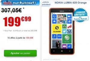 Nokia Lumia 625 orange moins cher