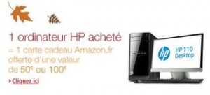 Ordinateur HP bon plan carte cadeau Amazon