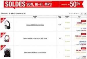 SOLDES CASQUES AUDIO MOITIE PRIX