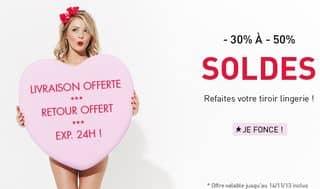 Soldes lingerie chez Body And Co (jusqu'a -50% + livraison gratuite)