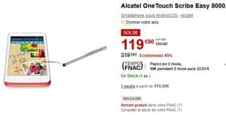 Soldes Alcatel One Touch Scribe easy