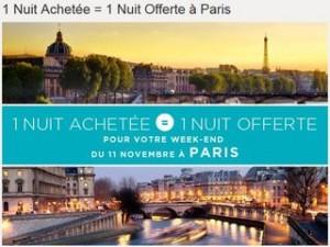 Week-end du 11 Novembre : 1 Nuit achetée = 1 Nuit offerte