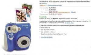 appareil photo instantanee Polaroid P 300 moitie prix