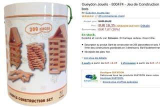 baril planchettes en bois Kapla Gueydon Jouets