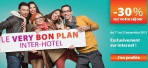 bon plan inter hotel 30 pourcent