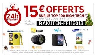 code promo 15 euros pour 100 euros priceminister 11 2013