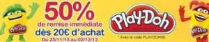 code promo Play-Doh moitie prix