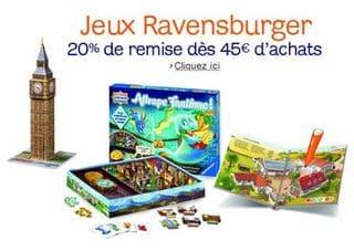 Moins 20% sur les jeux Ravensburger (et Puzzle)