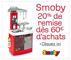 Moins 20% sur Smoby / code promo
